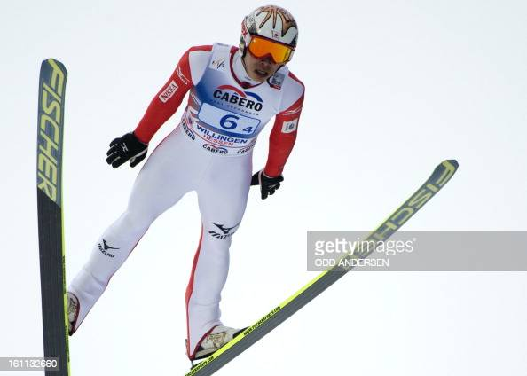 Taku Takeuchi of Japan jumps during the FIS Ski Jumping World Cup team competition on the Muehlenkopfschanze hill in Willingen western Germany on...