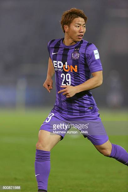 Takuma Asano of Sanfrecce Hiroshima during of the FIFA World Club Cup match between Sanfrecce Hiroshima and Auckland City at International Stadium...