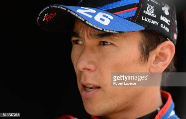Takuma Sato driver of the Andretti Autosport Honda looks on during practice for the Verizon IndyCar Series Rainguard Water Sealers 600 at Texas Motor...