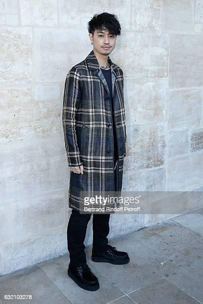 Takumi Saito attends the Louis Vuitton Menswear Fall/Winter 20172018 show as part of Paris Fashion Week Held at Palais Royal on January 19 2017 in...