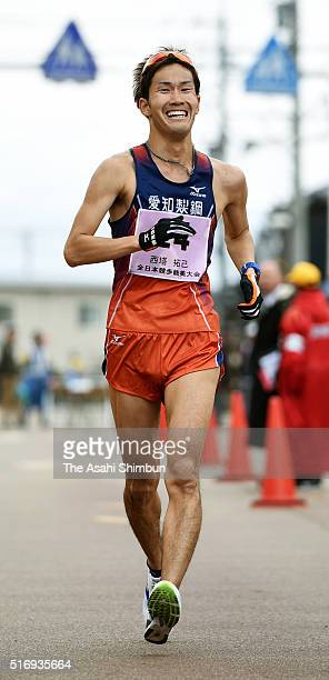 Takumi Saito competes in the Men's 20km during the 40th All Japan Race Walk Championships Nomi on March 20 2016 in Nomi Ishikawa Japan