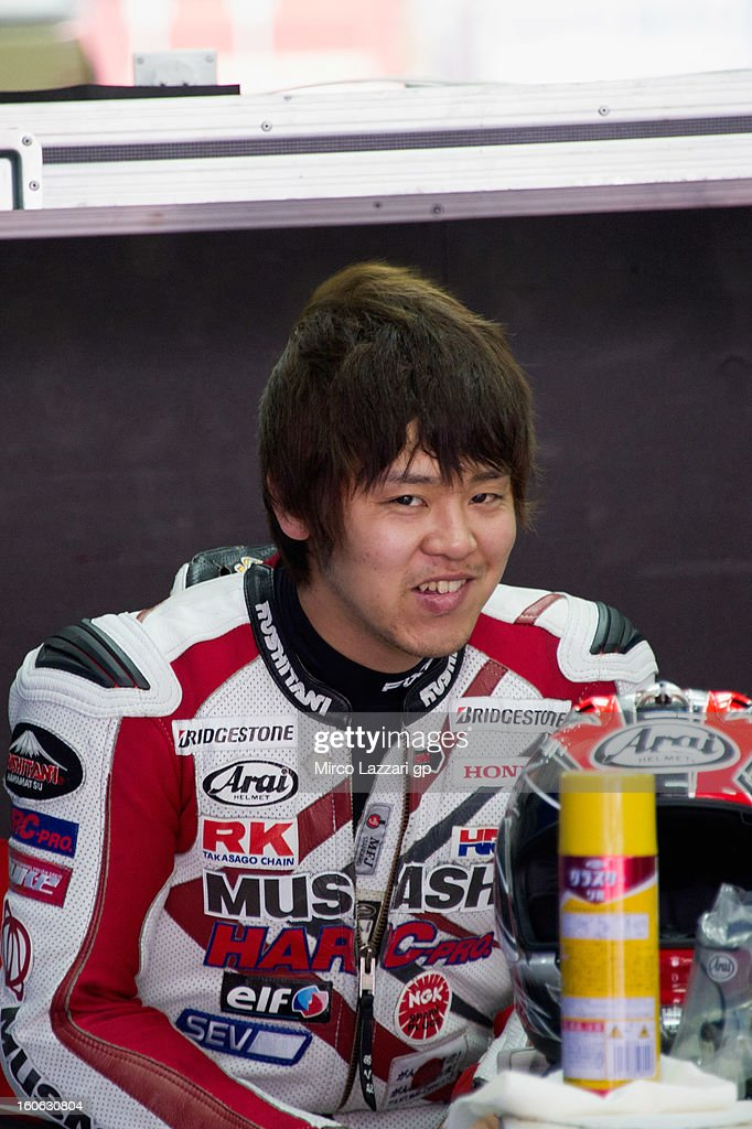 Takumi Takahashi of Japan and HRC looks on during the MotoGP - CRT Tests in Sepang - Day Two at Sepang Circuit on February 4, 2013 in Kuala Lumpur, Malaysia.