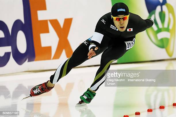 Takuro Oda of Japan compete in the Men 1500 meters race during day 2 of the ISU World Single Distances Speed Skating Championships held at Speed...