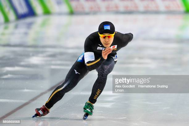 Takuro Oda of Japan competes in the men's 1000 meter final during day 3 of the ISU World Cup Speed Skating event on December 10 2017 in Salt Lake...