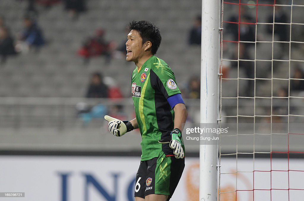 Takuto Hayashi of Vegalta Sendai reacts during the AFC Champions League Group E match between FC Seoul and Vegalta Sendai at Seoul World Cup Stadium on April 2, 2013 in Seoul, South Korea.