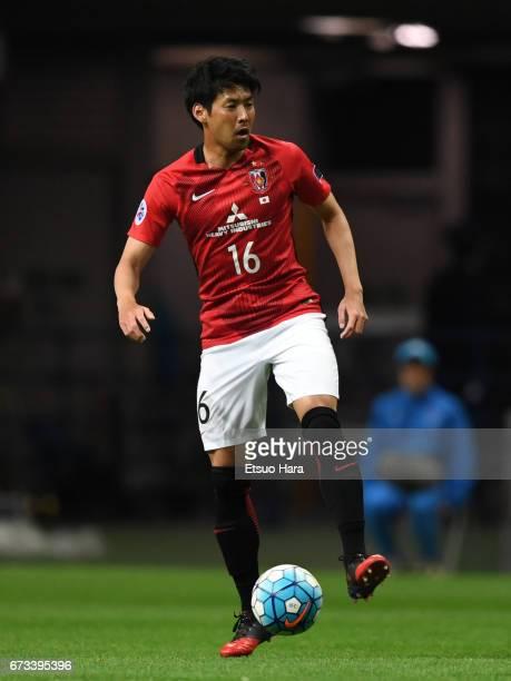 Takuya Aoki of Urawa Red Diamonds in action during the AFC Champions League Group F match between Urawa Red Diamonds and Western Sydney at Saitama...