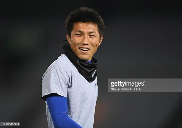 Takuya Iwata of Auckland City during a training session at International Stadium Yokohama on December 7 2016 in Yokohama Japan