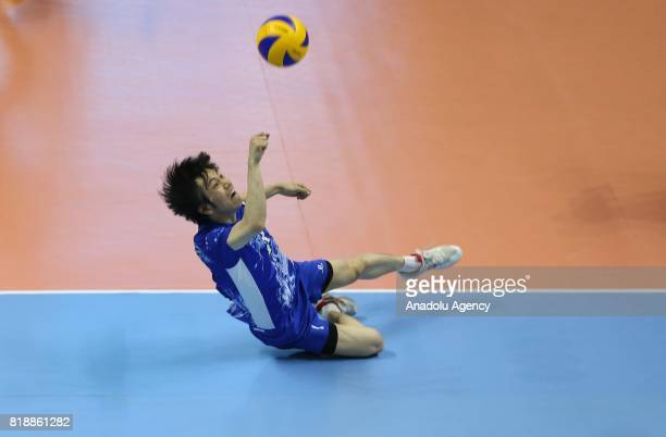 Takuya Kano of Japan in action during a men's volleyball match between Italy and Japan within the 23rd Summer Deaflympics 2017 at Mustafa Dagistanli...