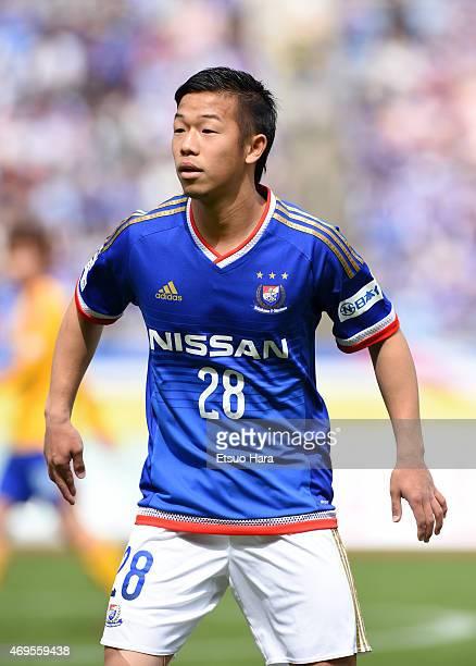 Takuya Kida of Yokohama FMarinos in action during the JLeague match between Yokohama FMarinos and Vegalta Sendai at Nissan Stadium on April 12 2015...