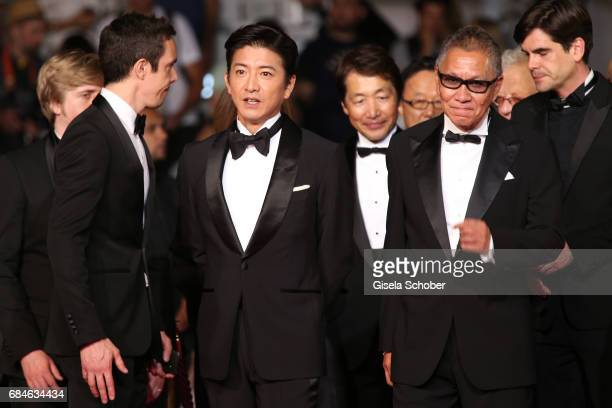 Takuya Kimura and director Takashi Miike attend the 'Blade Of The Immortal ' screening during the 70th annual Cannes Film Festival at Palais des...