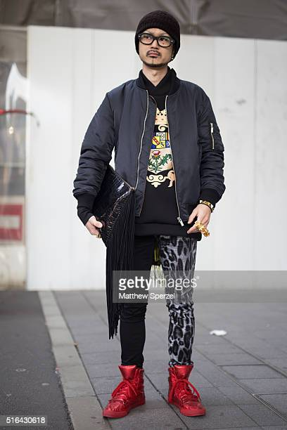 Takuya Shimoo attends the Tokyo New Age show during Tokyo Fashion Week on March 18 2016 in Tokyo Japan