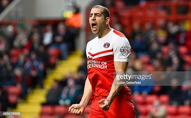Tal Ben Haim of Charlton Athletic reacts during the Sky Bet Championship match between Charlton Athletic and Brentford at The Valley on February 14...