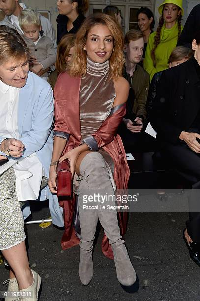 Tal Benyerzi attends the John Galliano show as part of the Paris Fashion Week Womenswear Spring/Summer 2017 on October 2 2016 in Paris France
