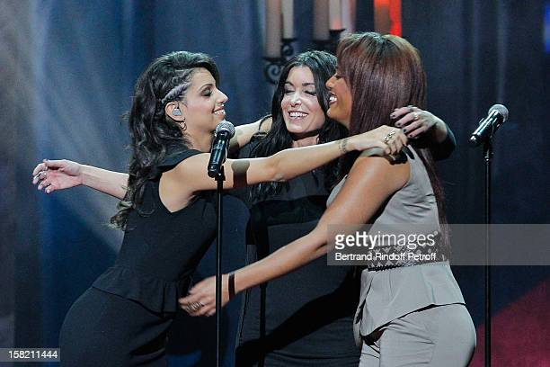 Tal Jenifer and Amel Bent perform during 'La Chanson De L'Annee 2012' Show Recording at Palais des Sports on December 10 2012 in Paris France