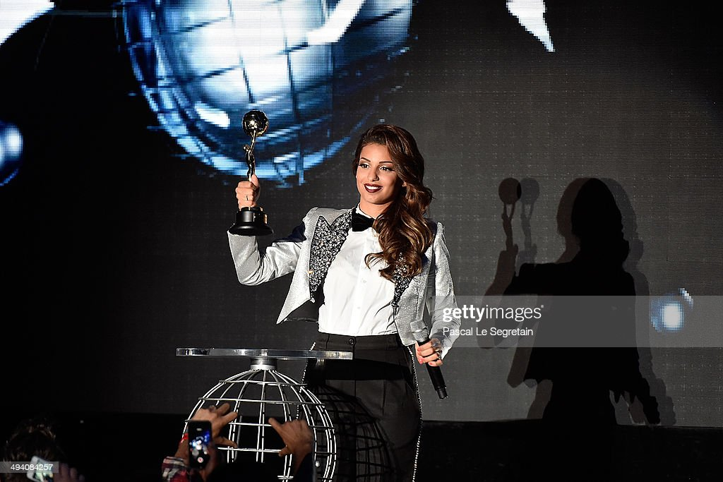 Tal receives a award during the ceremony of the World Music Awards 2014 at Sporting Monte-Carlo on May 27, 2014 in Monte-Carlo, Monaco.