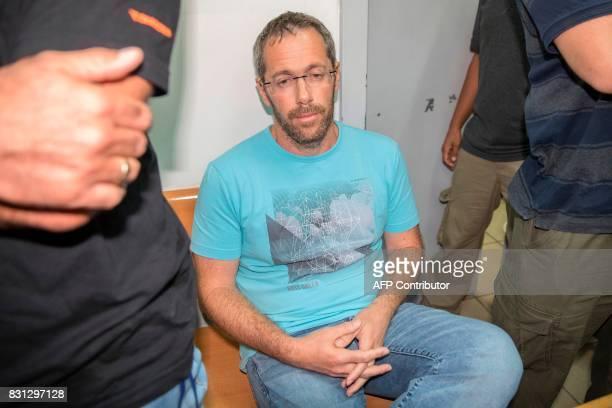 Tal Silberstein an adviser to Austrian Chancellor Christian Kern sits at the Israeli Rishon Lezion Justice court near Tel Aviv on August 14 2017...