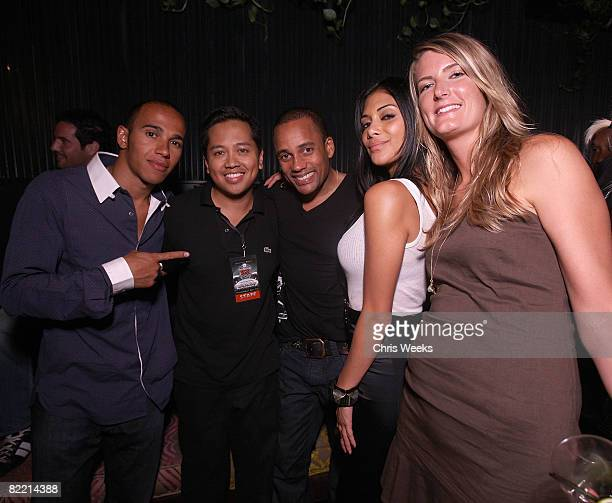 Talan Torreiro Rembrandt Flores Hill Harper and Nicole Scherzinger attend the 20th Anniversary of the Madden NFL franchise hosted by EA Sports at STK...