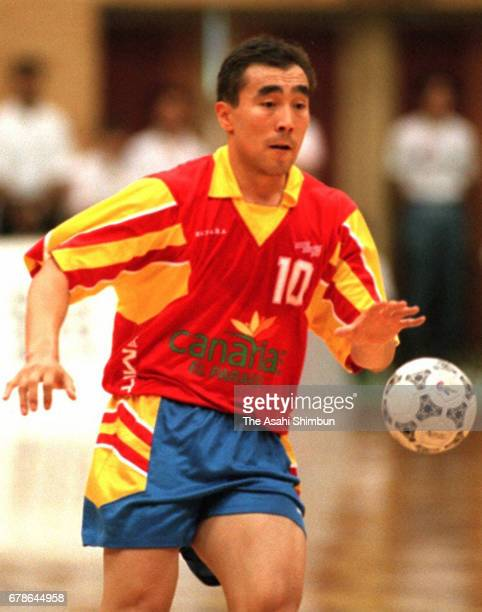 Talant Dujshebaev of Spain in action during the World Men's Handball Championship Group C match between Egypt and Spain at Yamaga City Gymnasium on...
