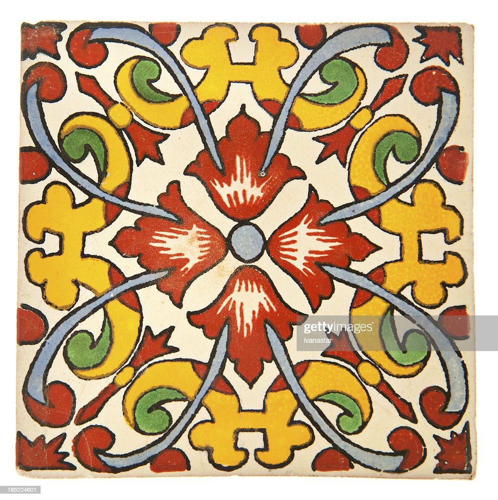 Talavera Handcrafted Mexican Ceramic Tile Stock Photo Getty Images