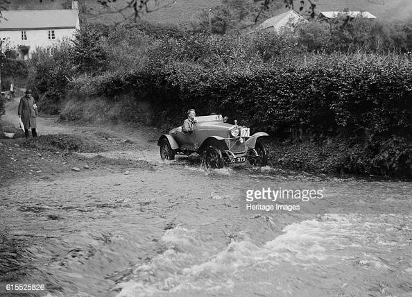 Talbot of A PowysLybbe competing in the JCC Lynton Trial 1932 Talbot Vehicle Reg No MO373 Event Entry No 17 An Amalgamation of 2 1913 Works cars...