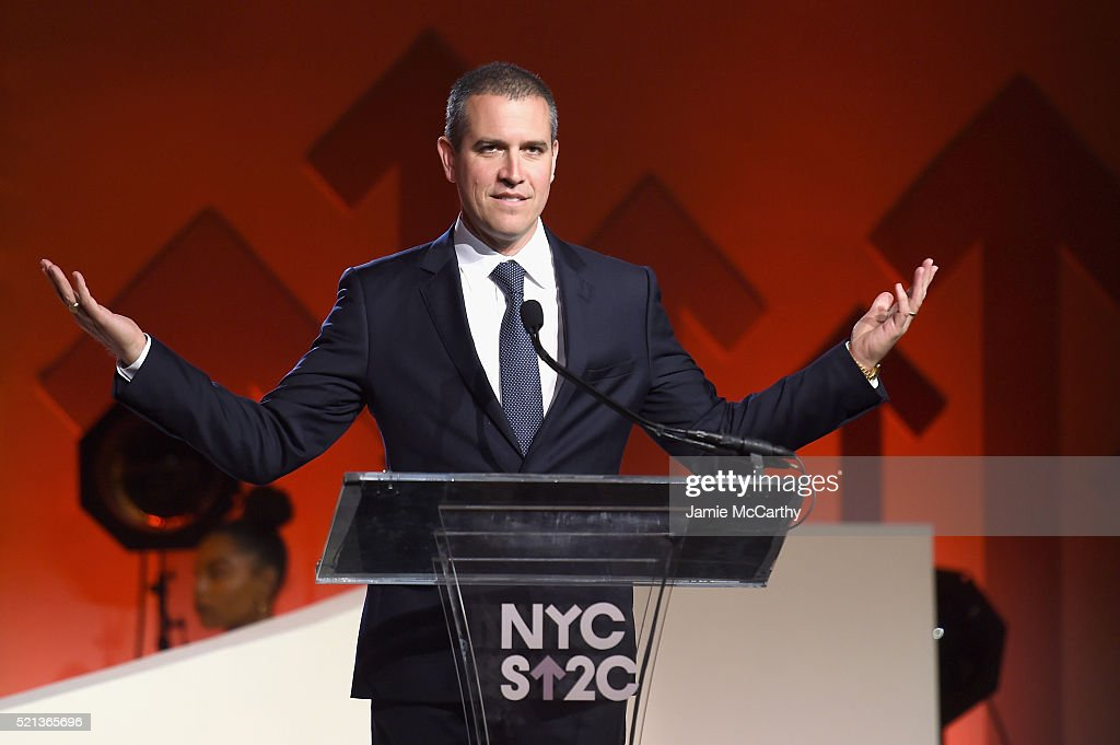 Talent agent and event host Jim Toth speaks onstage during Stand Up To Cancer's New York Standing Room Only presented by Entertainment Industry...