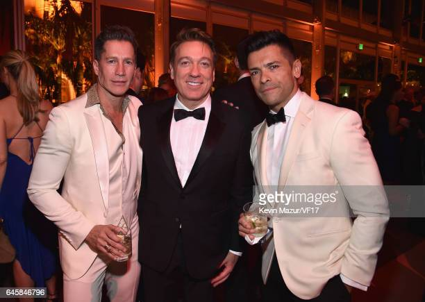 Talent agent Kevin Huvane and actor Mark Consuelos attend the 2017 Vanity Fair Oscar Party hosted by Graydon Carter at Wallis Annenberg Center for...