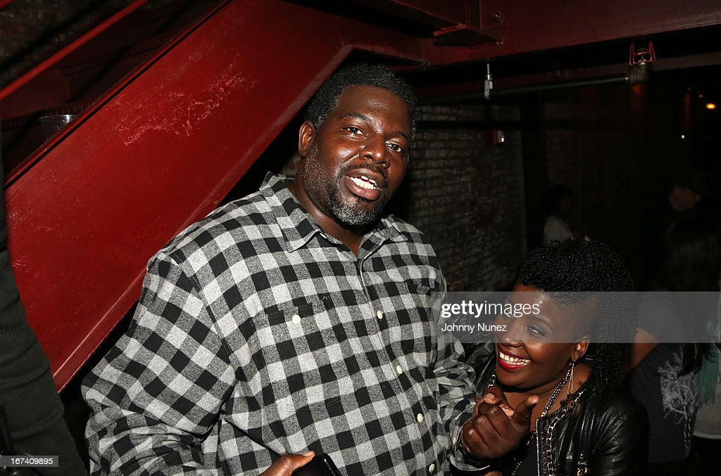 Talent manager and music executive Michael 'Blue' Williams (L) attends Hot 97's Who's Next Live: Reggae Edition at S.O.B.'s on April 24, 2013 in New York City.