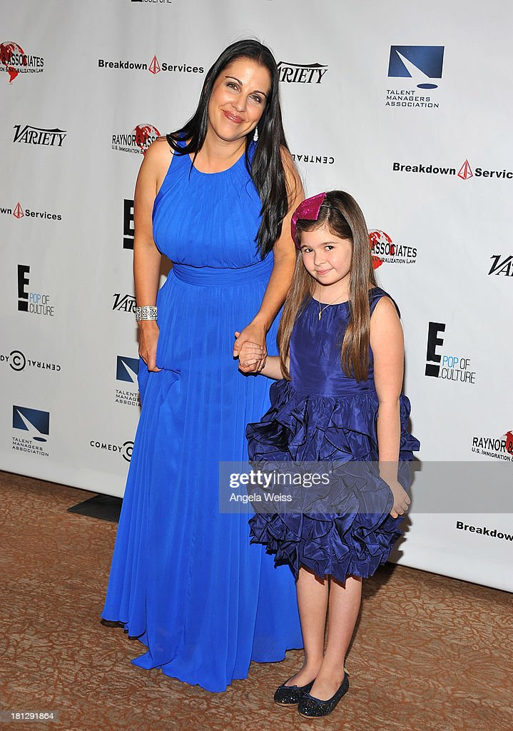 Talent manager Annet McCroskey and actress Addison Riecke attends the 12th Annual Heller Awards at The Beverly Hilton Hotel on September 19, 2013 in Beverly Hills, California.