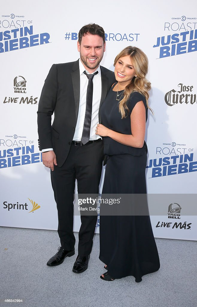 Talent manager Scooter Braun and Yael Cohen Braun attend The Comedy Central Roast of Justin Bieber at Sony Pictures Studios on March 14 2015 in Los...