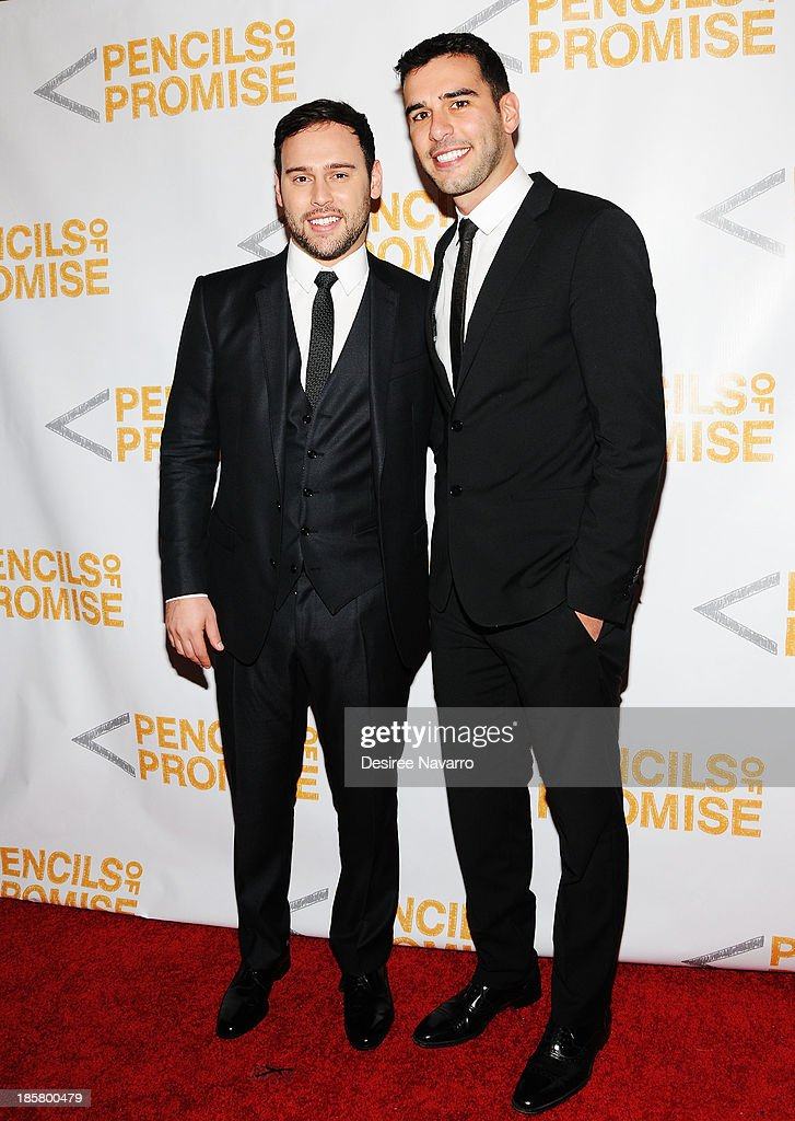 Talent Manager Scott 'Scooter' Braun and (R) Founder & CEO, Pencils of Promise Adam Braun attend the 3rd annual Pencils of Promise Gala at Guastavino's on October 24, 2013 in New York City.