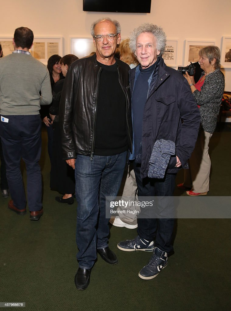 Talent Manager Shep Gordon and Bob Gruen attend 'Super Duper Alice Cooper' Screening And Conversation Alice Cooper And Anthony DeCurtis at 92nd Street Y on October 27, 2014 in New York City.