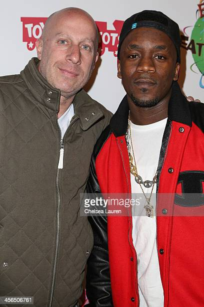 Talent manager Steve Lobel and recording artist Iyaz arrive at Elizabeth Stanton's 18th birthday benefiting Toys for Tots at Belasco Theatre on...