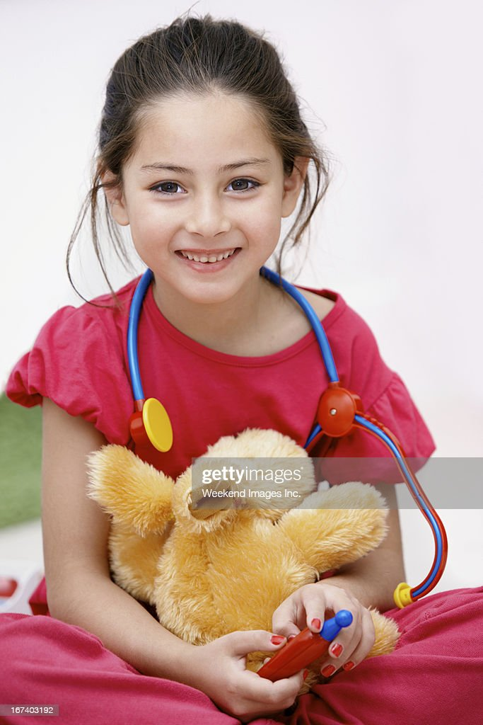 Talented veterinarian : Stock Photo