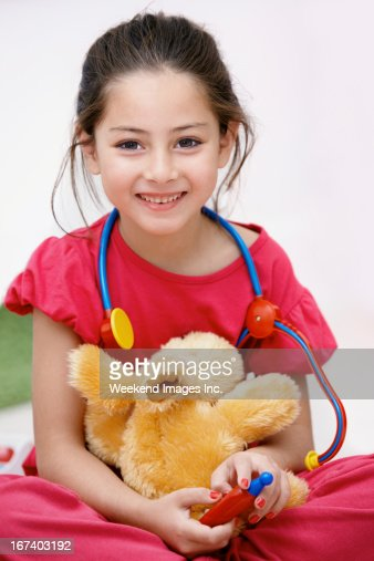 Talented veterinarian : Stockfoto
