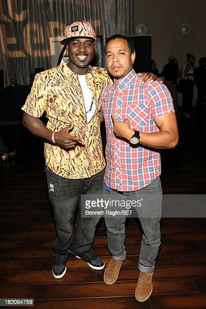 Tali Gore and photographer Johnny Nunez attend the BET Music Matters 'Press Play' event Powered by Monster at TWELVE Atlantic Station on September 27...