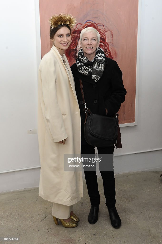 Tali Lennox and Annie Lennox attend the Tali Lennox Exhibition Opening Reception at Catherine Ahnell Gallery on March 18 2015 in New York City