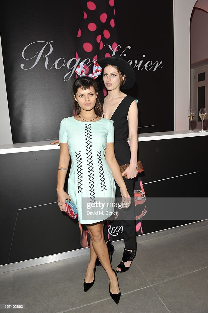 Tali Lennox and Bip Ling at the Roger Vivier Book published by Rizzoli UK launch party at Saatchi Gallery on April 24, 2013 in London, England.