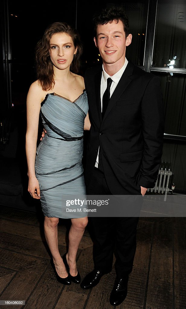 Tali Lennox (L) and Callum Turner attend the InStyle Best Of British Talent party in association with Lancome and Avenue 32 at Shoreditch House on January 30, 2013 in London, England.
