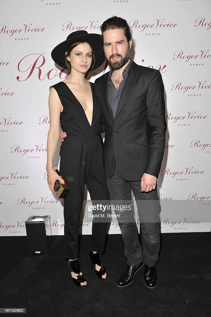 Tali Lennox and Jack Guinness at the Roger Vivier Book published by Rizzoli UK launch party at Saatchi Gallery on April 24, 2013 in London, England.