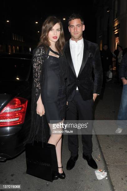 Tali Lennox and Oliver JacksonCohen arrives Dolce Gabbana 'La Bella Estate' Cocktail Launch during Milan Fashion Week Menswear Autumn/Winter 2012 on...