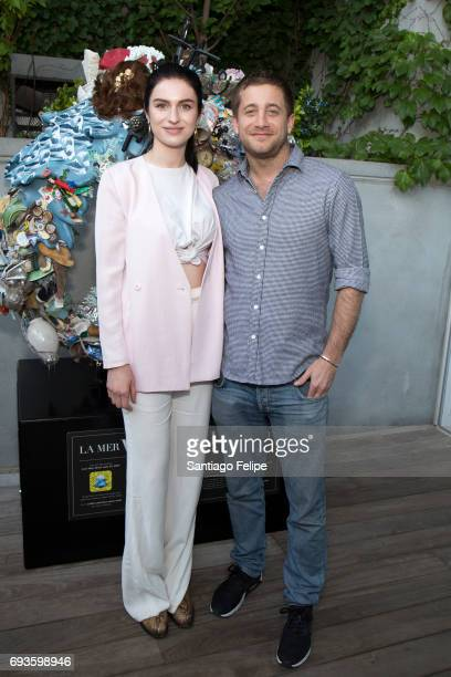 Tali Lennox and Tyrone Wood celebrate World Oceans Day Eve with Project 0 in honor of the La Mer Wave Walk in Support of Project 0 at The James Hotel...