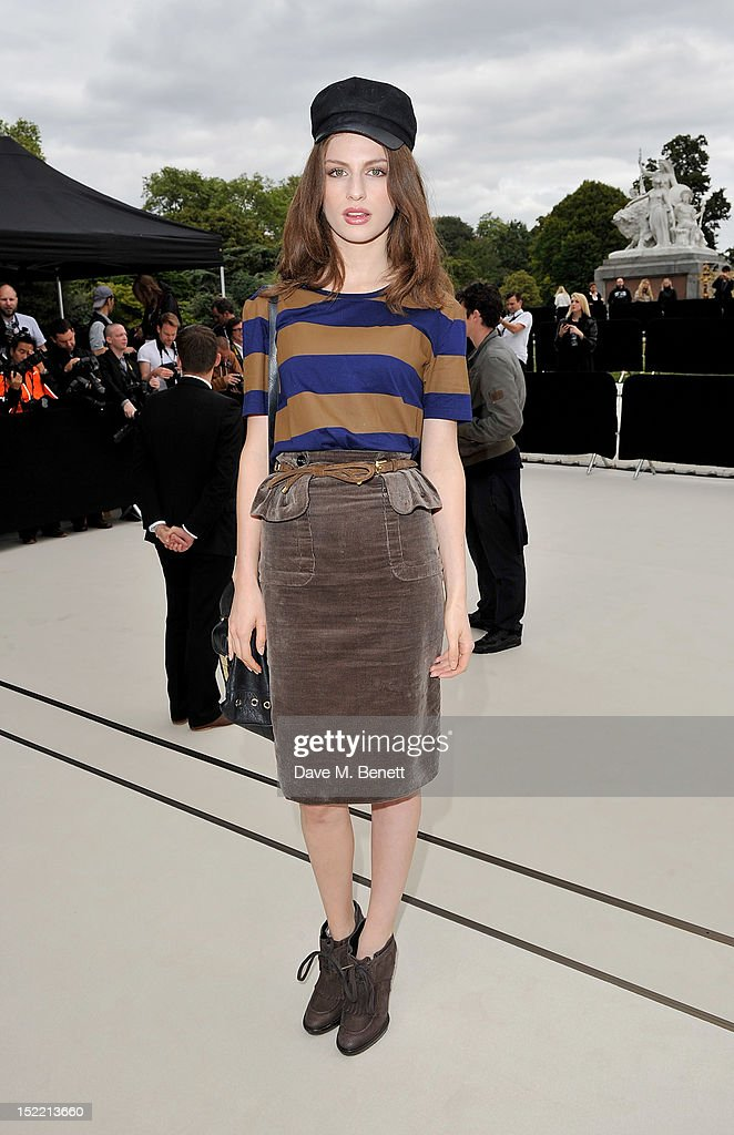 Tali Lennox arrives at the Burberry Spring Summer 2013 Womenswear Show during London Fashion Week on September 17, 2012 in London, United Kingdom.