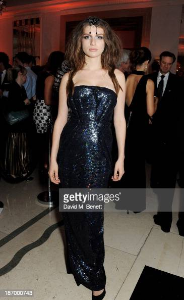 Tali Lennox arrives at the Harper's Bazaar Women of the Year awards at Claridge's Hotel on November 5 2013 in London England