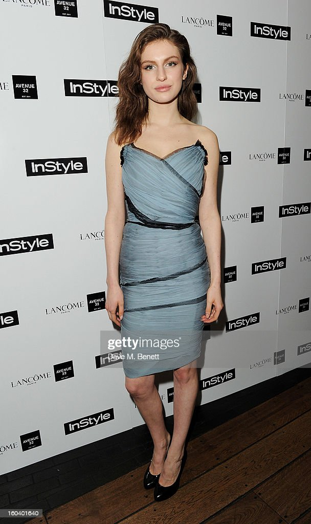 Tali Lennox arrives at the InStyle Best Of British Talent party in association with Lancome and Avenue 32 at Shoreditch House on January 30, 2013 in London, England.