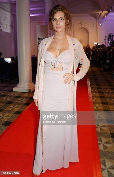 Tali Lennox arrives at the Scottish fashion invasion of London at the 9th annual Scottish Fashion Awards at 8 Northumberland Avenue on September 1...