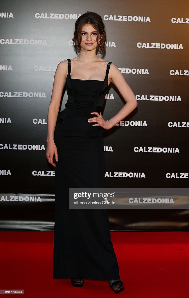 Tali Lennox attends Calzedonia Summer Show Forever Together on April 16, 2013 in Rimini, Italy.
