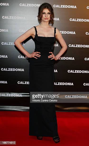Tali Lennox attends Calzedonia Summer Show Forever Together on April 16 2013 in Rimini Italy
