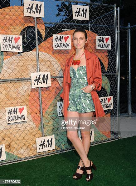 Tali Lennox attends HM Loves Rockaway Summer Celebration at Diveria Drive on June 18 2015 in the Brooklyn borough of New York City