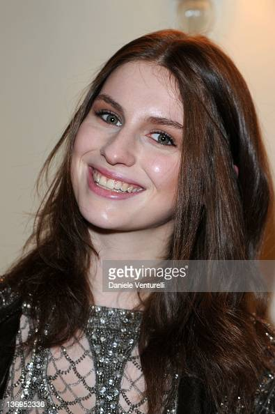 Tali Lennox attends the 'Alberta Ferretti Special Event' during the Milan Fashion Week Autumn/Winter 2012 on January 13 2012 in Milan Italy
