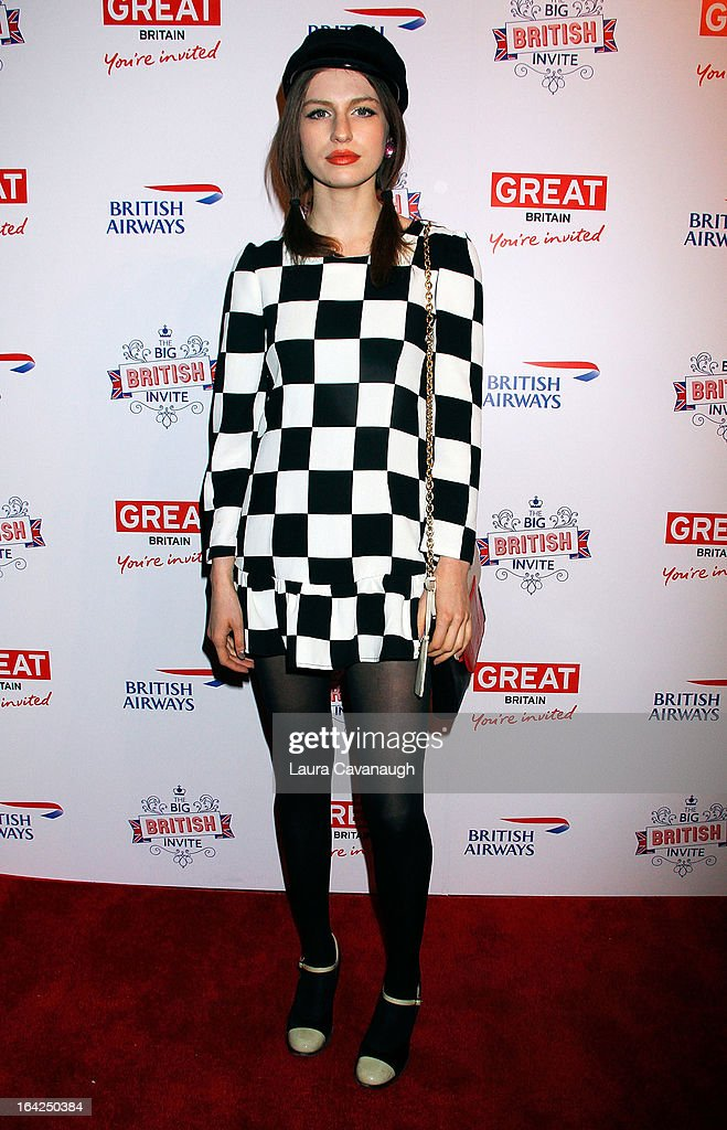 Tali Lennox attends The Big British Invite at 78 Mercer Street on March 21, 2013 in New York City.